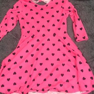 Pink dress with black hearts!